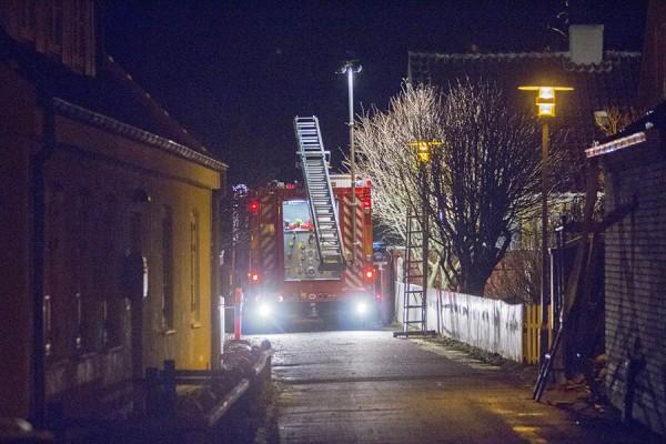 Natlig skorstensbrand på Østre Strandvej