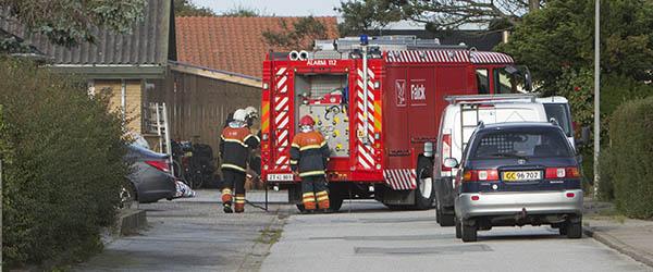 Brand i udhus  på Aspevej