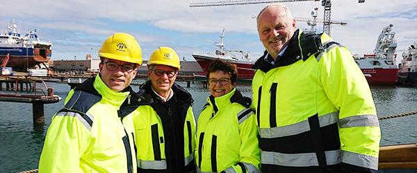 3 Venstre kandidater og en Miljø- og Fødevareminister på havnerundfart