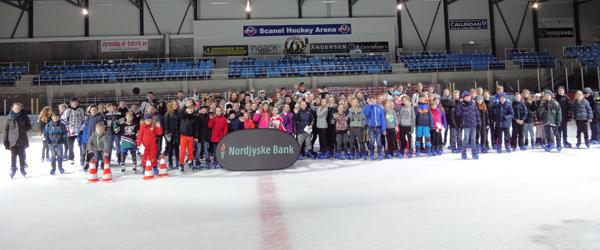 Nordjyske Bank inviterede til skøjtearrangement for 4. år i træk