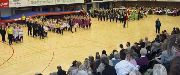 Gymnastikopvisning  i hallen på lørdag