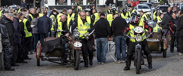 Mortens motorcykel på vej mod København