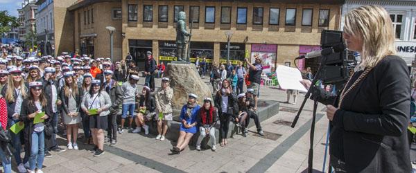 Borgmesteren hyldede de nyudsprungne studenter