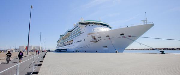 Imponerende syn på havnen i dag