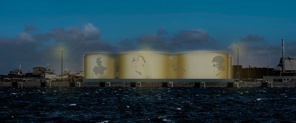 Udsmykning af olietanke på Skagen Havn