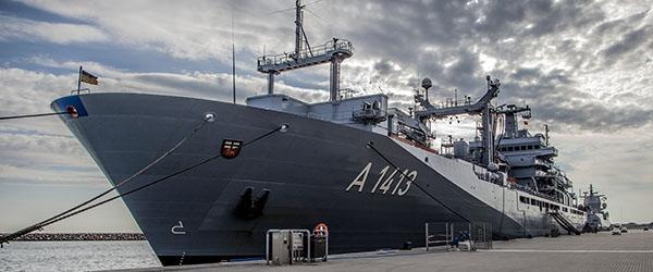 Åbent skib på flådefartøjer