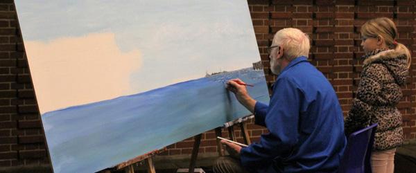 Stort maleri skal pryde privat bygning