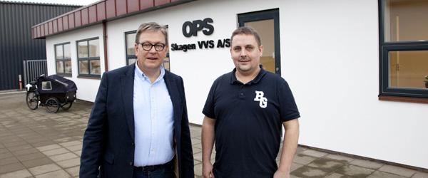 OPS – Skagen VVS tog i mod i nye lokaler