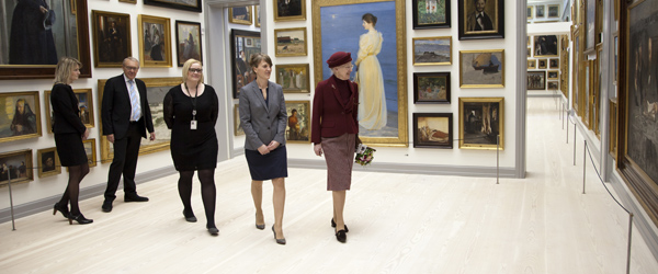Dronningen var første gæst på det nyåbnede Museum