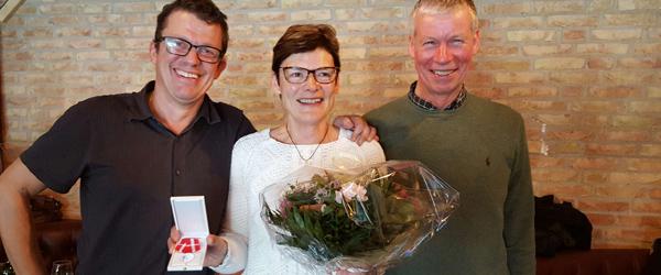 Hanne fik tildelt den kongelige belønningsmedalje