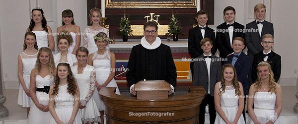Første hold elever fra Skagen Skole konfirmeret