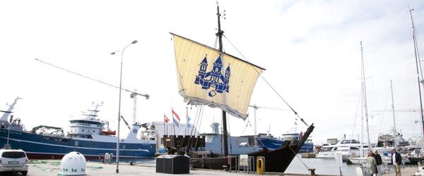 Historisk skib i Skagen Havn