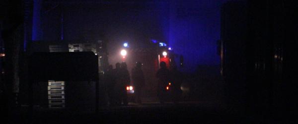 Brand i transformatorstation i nat