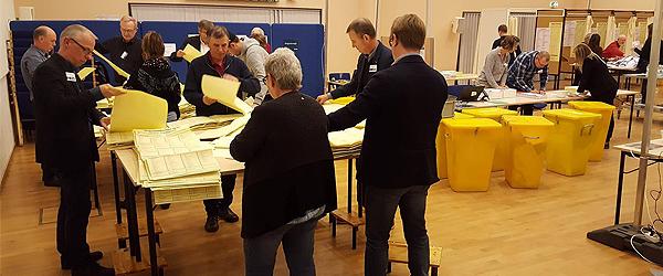 Valget er slut – stemmer tælles op