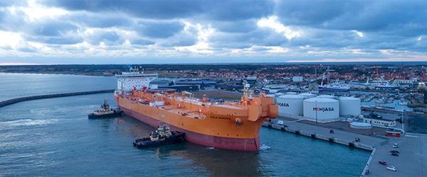 Skagen Havn tog i går imod det største tankskib i havnens historie