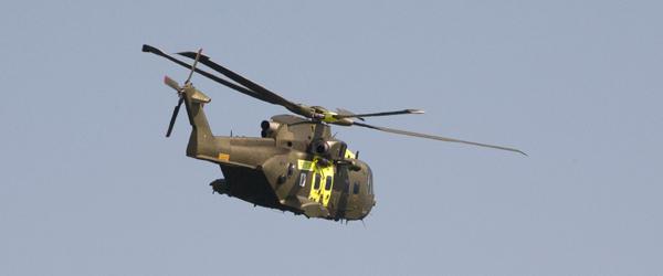 Skagen på vej ind under akuthelikopter-ordning