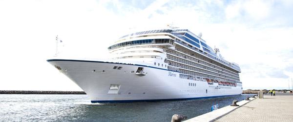 Luksuskrydstogtskib ankommet til Skagen