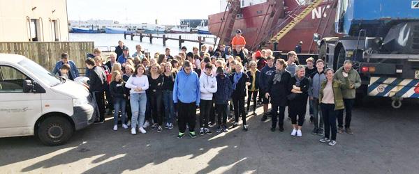 90 folkeskoleelever besøgte den maritime branche i Skagen