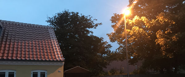 Forsøg med gadebelysning i Skagen