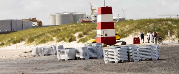 Ikke udlejning af liggestole på Sønderstrand i år