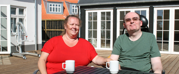 Pia og Steen fra Værløse tanker solskin og havluft i Lille Skagen
