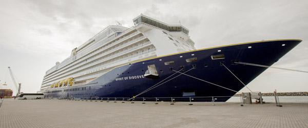 Spritnyt krydstogtskib er anløbet Skagen