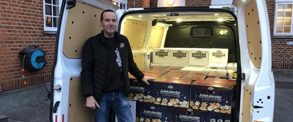 Kim leverer øl i hele Danmark