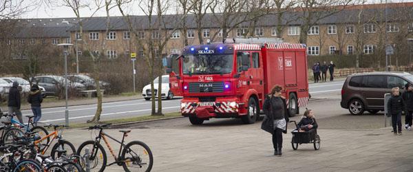 Elev aktiverede brandalarm