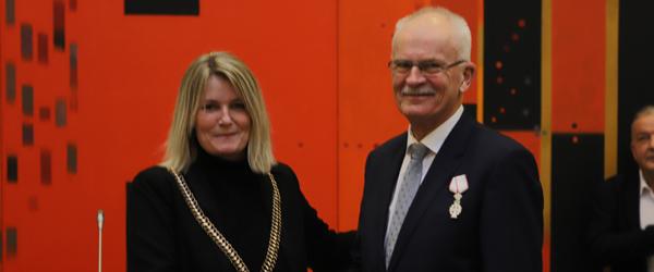 Bjarne Kvist tildelt Ridderkorset