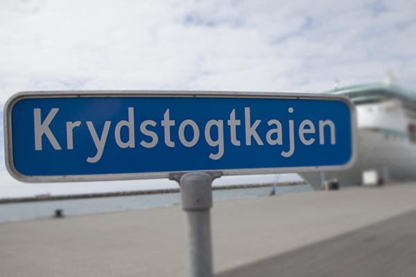 AIDA-krydstogtskib uden passagerer lægger til kaj i Skagen