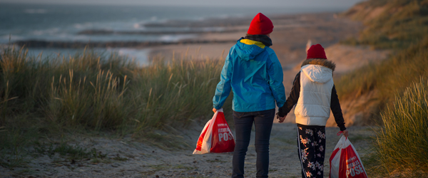 Indsamling af havfald giver gevinster i pose og sæk