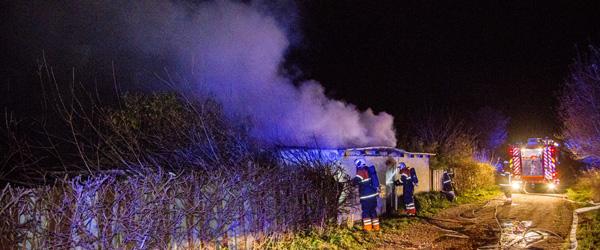 Brand i bygning på Silvervej