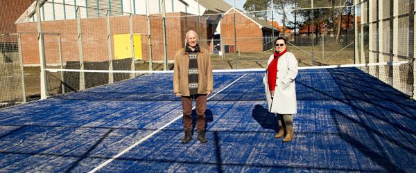 Den første padelbane i Skagen står klar 1. april