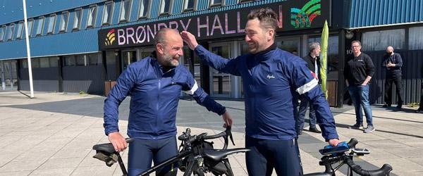 Samlede 180.300 kroner ind på cykeltur fra Skagen til Brøndby Hallen