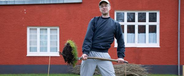 Den historiske køkkenhave ved Anchers Hus genopstår