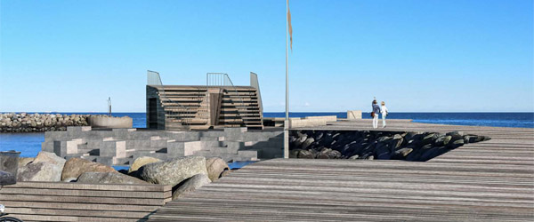 Aktivitetsbro, sauna og havnebad i Aalbæk Havn