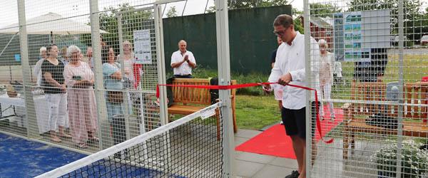 Skagen Tennisklubs padelbane blev indviet i lørdags