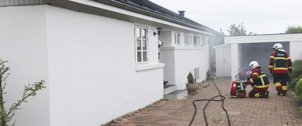 Brand i elektrisk installation på Middelbanke