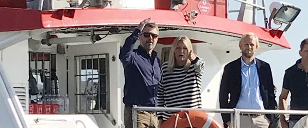 Kronprinsen på kort visit i Skagen
