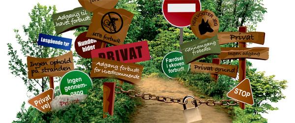 Friluftsrådet vil rydde op i ulovlige skilte og barrierer i naturen