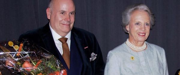 Prinsesse Benedikte overrakte fornem pris til Jens-Christian Wandt